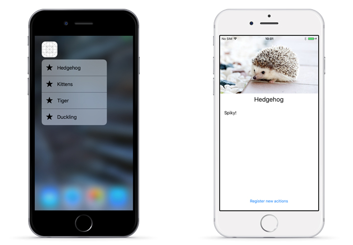 How to use dynamic quick actions in iOS