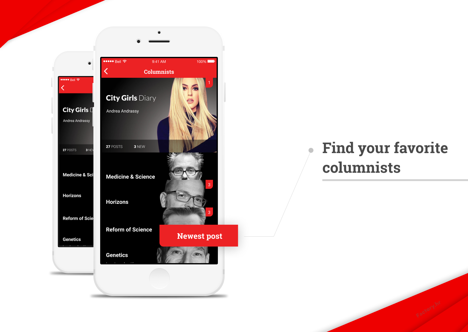 Fresh features for newspaper/magazine mobile apps