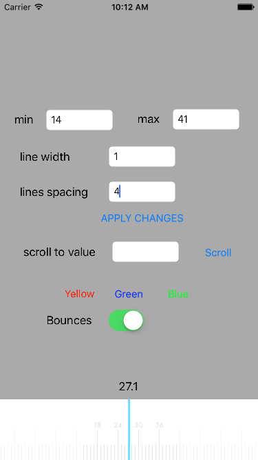 How we created custom scale view element in iOS