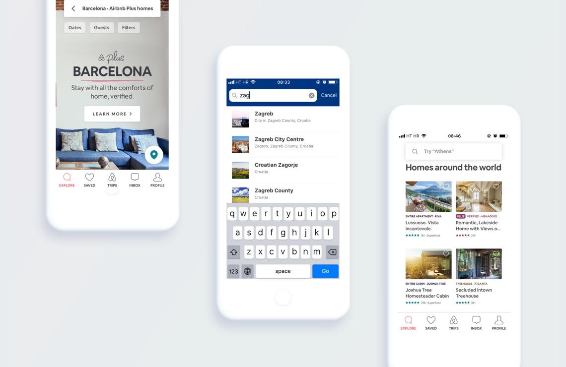 search in tourist mobile app