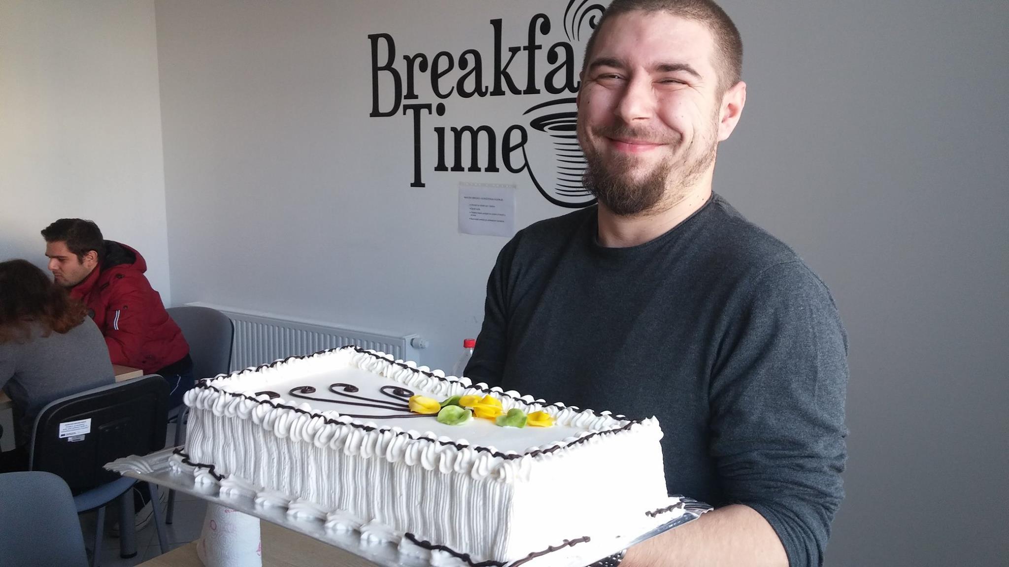Birthday cake in Factory