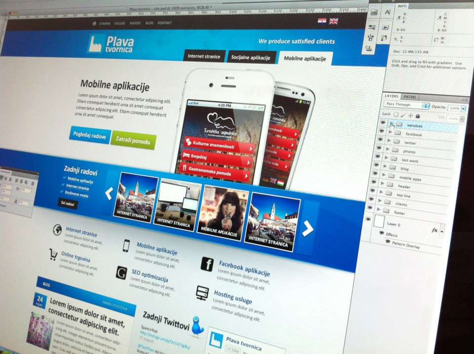 First company website in 2012