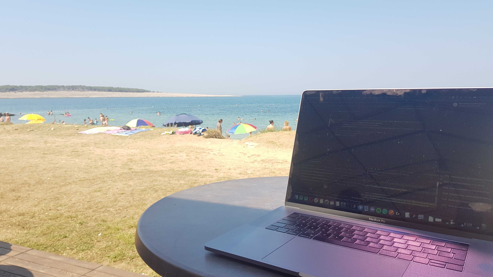 Working from the beach Factory 2020