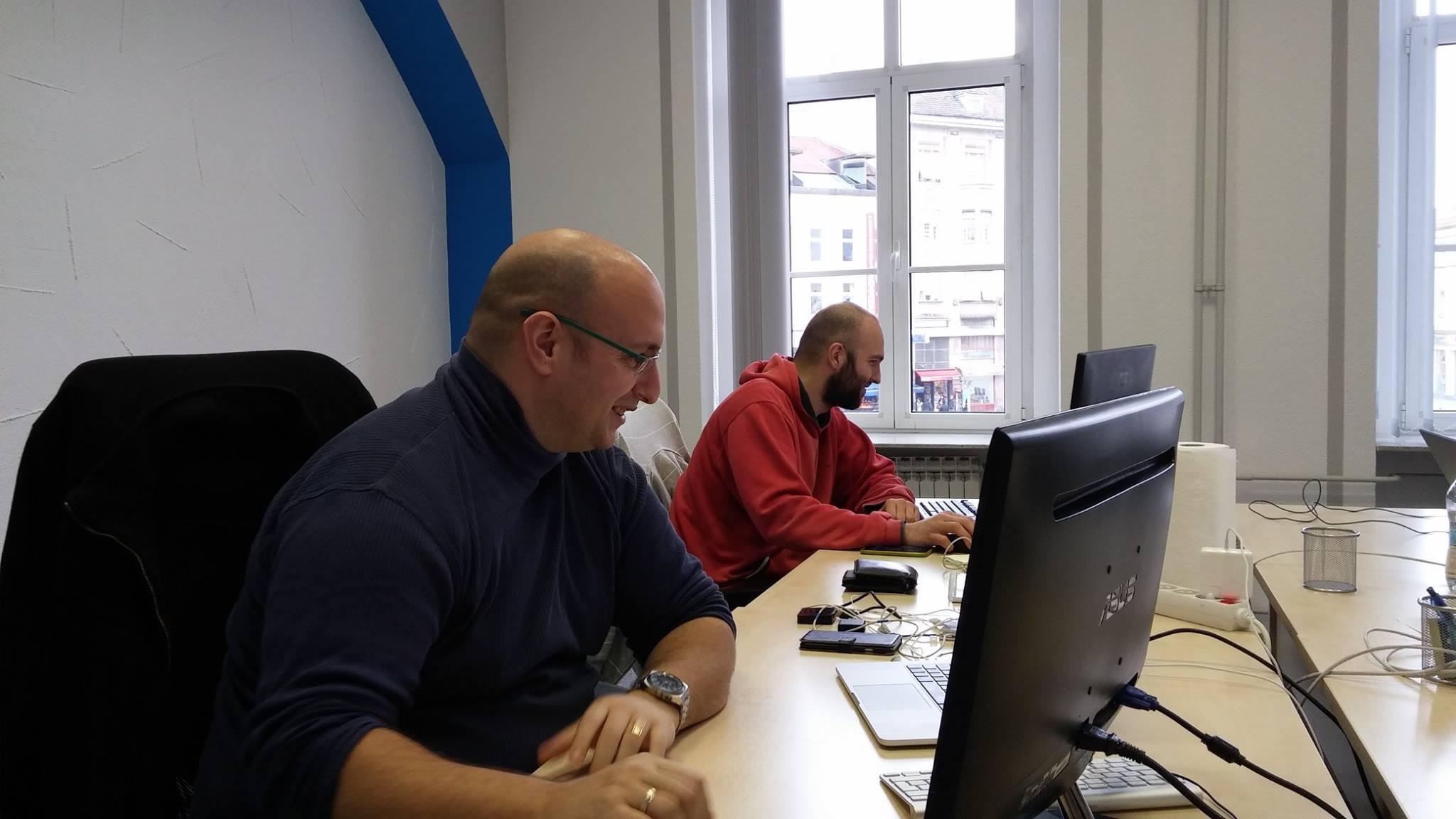 Working in the new office in Osijek
