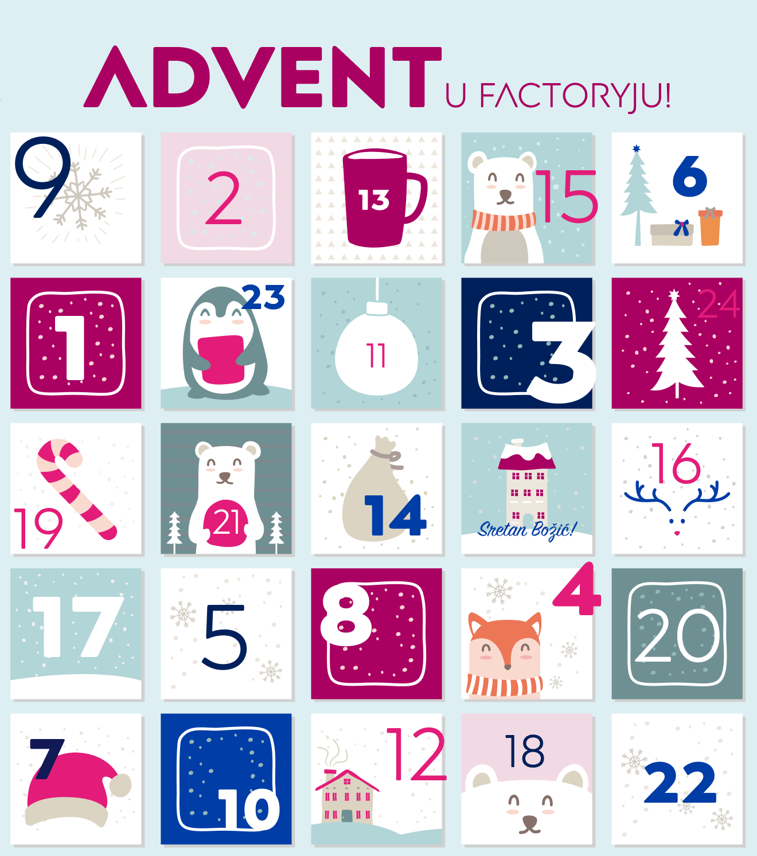 Adventski kalendar u Factoryju