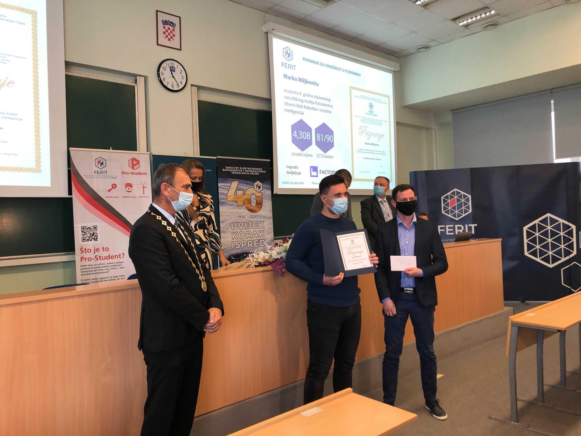 Factory sudjeluje na danu fakulteta FERIT - nagrađivanje studenata za iznimnu uspješnost