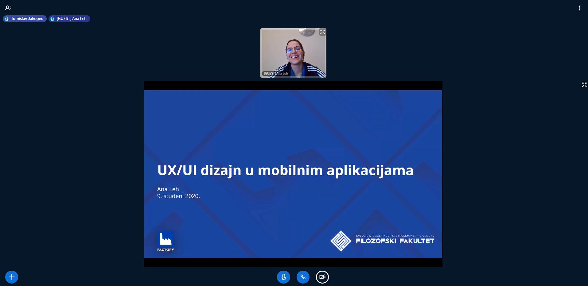 Predavanje Factoryja o UX-UI dizajnu mobilnih aplikacija u suradnji s Filozofskim fakultetom u Osijeku
