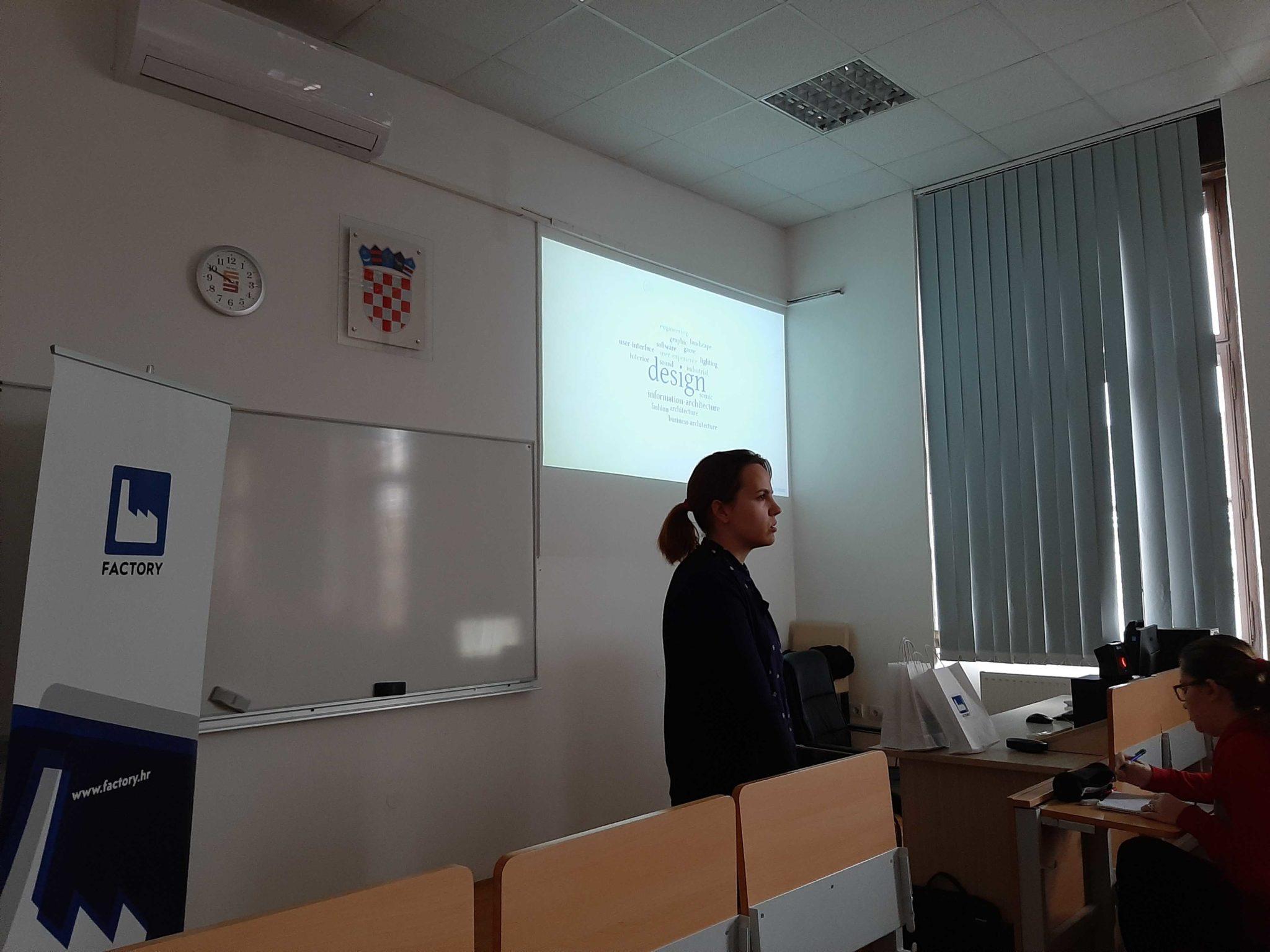 Predavanje Factoryja o dizajnu aplikacija u suradnji s Filozofskim fakultetom u Osijeku