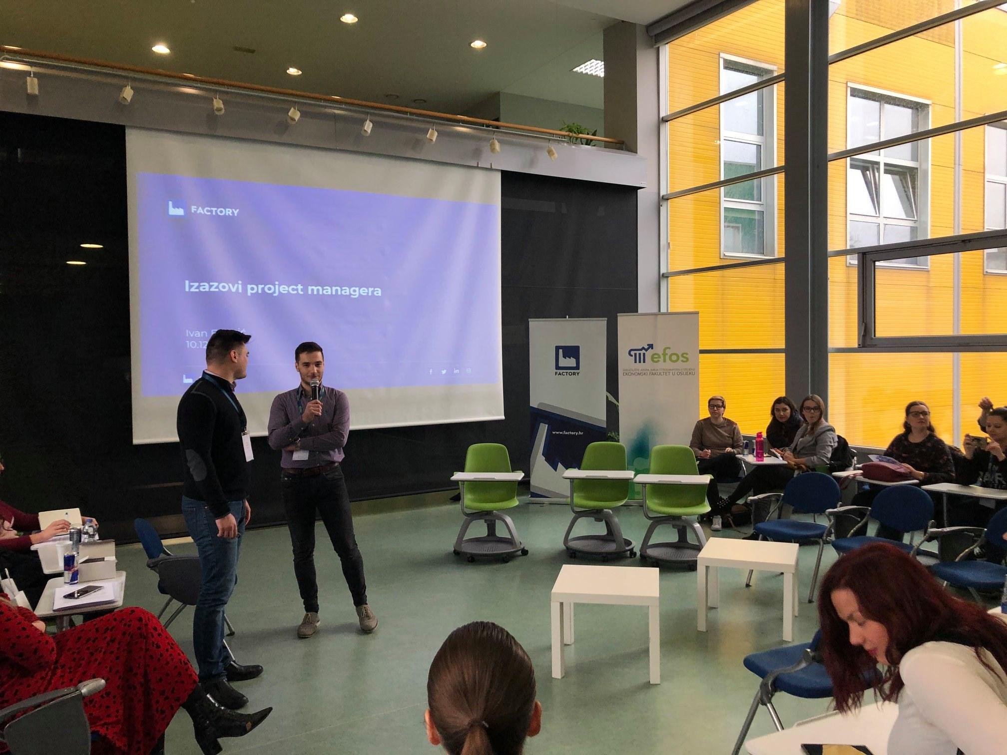 Predavanje Factoryja o project managementu u suradnji s Ekonomskim fakultetom u Osijeku